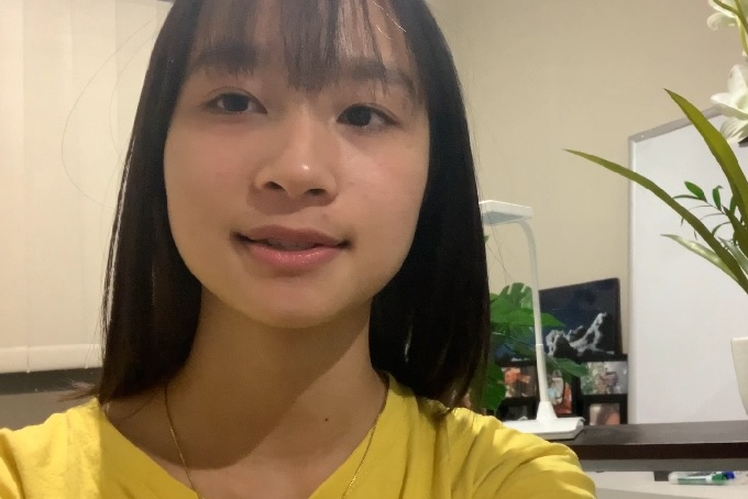 Griffith College Vietnamese student Fiona Nguyen smiles at camera